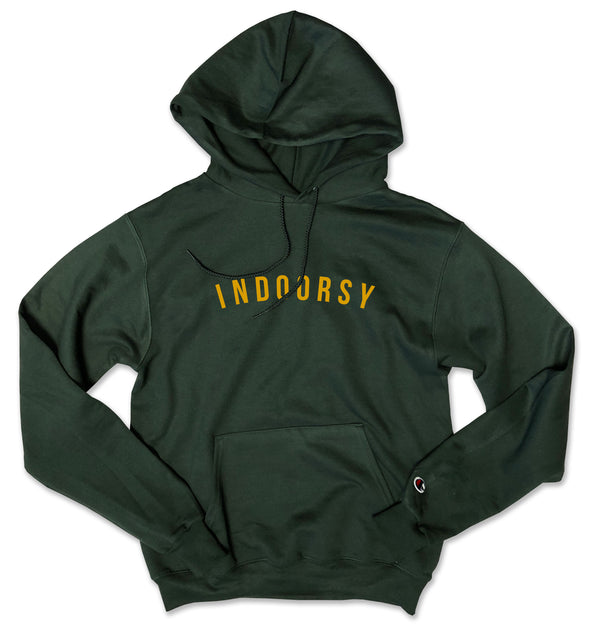 INDOORSY ... Hunter Green Champion Brand Unisex Hoodie-Everfitte-[funny family shirt]-[drinking shirts]-[bachelor shirt]-[bachelorette party tees]-[bridal party shirt]-[bridal party tee]-[group drinking tees]-[funny vodka shirt]-[funny tequila tee]-[funny tequila tshirt]-[funny whiskey tshirt]-[funny drinking shirt]-[tequila t-shirt]-[vodka t-shirt]-[whiskey t-shirt]-Everfitte