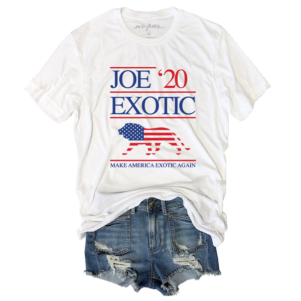 INSTAGRAM FLASH SALE! Joe Exotic For President 2020 ....Funny White Triblend Unisex Tee