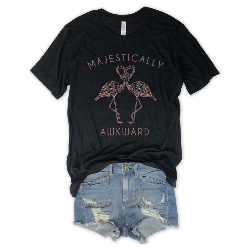 Majestically Awkward Black Slub Unisex Tee