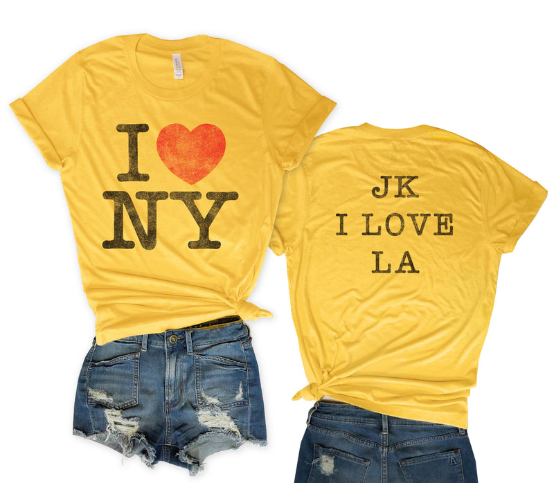 i love new york, i love ny, N.Y., L.A., Retro screen print, vintage tee, everfitte, screen print, t-shirt, shirt, unisex, vintage concert tee, retro concert tee, Funny tee, funny shirt,