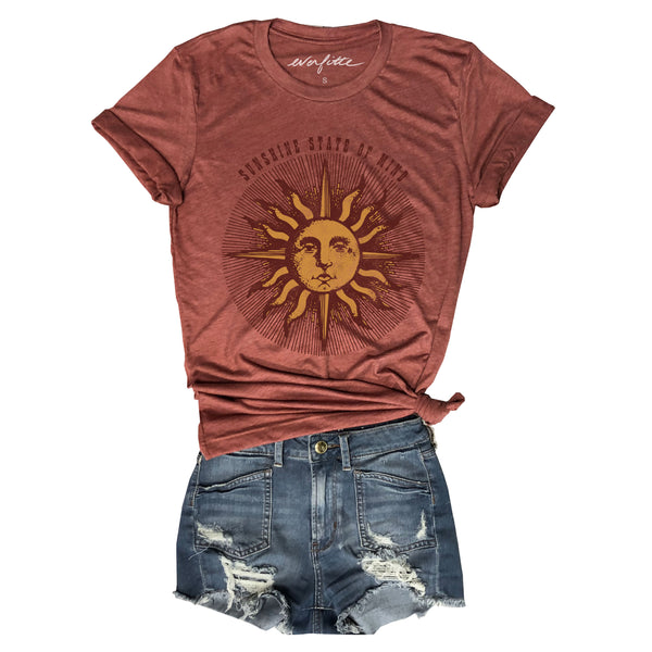 SALE! Sunshine State of Mind ... Unisex Rust Triblend Tee