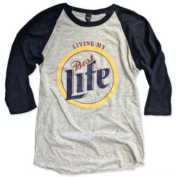 Baseball Tee Blowout!! Living My Best Life ... Unisex Baseball Raglan Tee-Everfitte-[funny family shirt]-[drinking shirts]-[bachelor shirt]-[bachelorette party tees]-[bridal party shirt]-[bridal party tee]-[group drinking tees]-[funny vodka shirt]-[funny tequila tee]-[funny tequila tshirt]-[funny whiskey tshirt]-[funny drinking shirt]-[tequila t-shirt]-[vodka t-shirt]-[whiskey t-shirt]-Everfitte