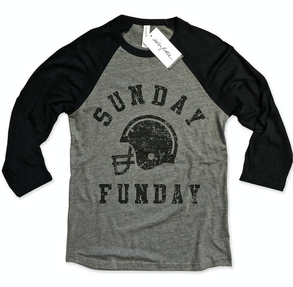 Baseball Tee Blowout!! Sunday Funday Football ... Unisex Baseball Raglan Tee-Everfitte-[funny family shirt]-[drinking shirts]-[bachelor shirt]-[bachelorette party tees]-[bridal party shirt]-[bridal party tee]-[group drinking tees]-[funny vodka shirt]-[funny tequila tee]-[funny tequila tshirt]-[funny whiskey tshirt]-[funny drinking shirt]-[tequila t-shirt]-[vodka t-shirt]-[whiskey t-shirt]-Everfitte