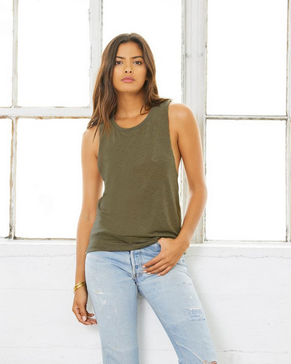 SALE! Save Second Base Asphalt Slub Muscle Tee