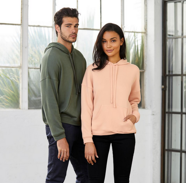 Cancelled Plans...Unisex Drop Shoulder, Super Cozy Hooded Sweatshirt-Everfitte-Everfitte