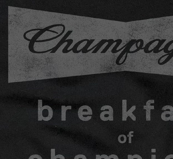 Champagne Breakfast of Champions...Black Drop Shoulder Crew Neck Sweatshirt-Everfitte-[drinking shirt]-[alcohol shirt]-[bachelorette party]-[bridal party]-[funny shirt]-[funny tee]-[shirt with words]-[coffee in the shower]-[lululemon]-[chaser]-Everfitte