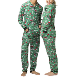 More Naughty Than Nice...Super Cozy Flannel Holiday Full Zip Onesie
