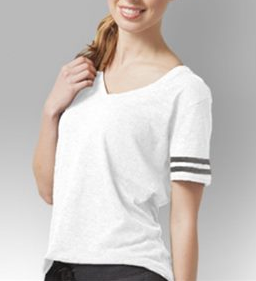 Sunday Funday...Women's Varsity V-Neck Slub Tee