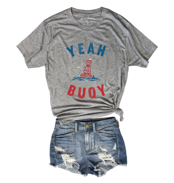 Yeah Buoy ... Heather Grey Unisex Triblend Tee-Everfitte-[maga]-[usa]-[patriot]-[patriotic tee]-[funny usa shirt]-[4th of July]-[July 4th]-[american flag shirt]-[trump tshirt]-[trump rally shirt]-[tea party shirt]-[funny political shirt]-[biden shirt]-[liberal tshirt]-[republican tshirt]-Everfitte