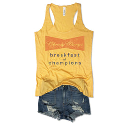 Sale! Bloody Marys Breakfast of Champions Yellow Tank