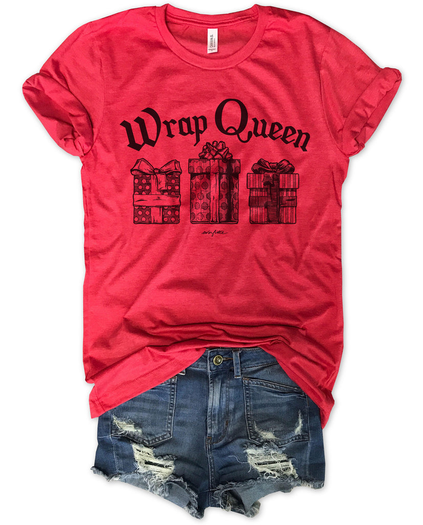 Sale!! Wrap Queen...Funny Red Holiday Unisex Tee