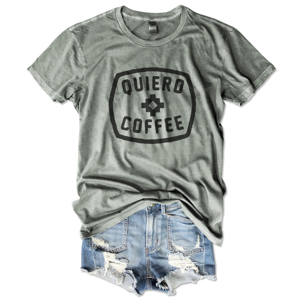 Sale! Quiero Coffee...  Stone Garment Dyed Unisex Tee