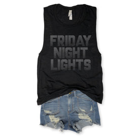 Friday Night Lights Black Slub Muscle Tee