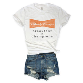 Bloody Marys Breakfast Of Champions White Unisex Tee