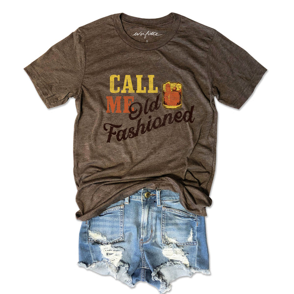 Call Me Old Fashioned ... Funny Unisex Triblend Tee-Everfitte-[funny family shirt]-[drinking shirts]-[bachelor shirt]-[bachelorette party tees]-[bridal party shirt]-[bridal party tee]-[group drinking tees]-[funny vodka shirt]-[funny tequila tee]-[funny tequila tshirt]-[funny whiskey tshirt]-[funny drinking shirt]-[tequila t-shirt]-[vodka t-shirt]-[whiskey t-shirt]-Everfitte