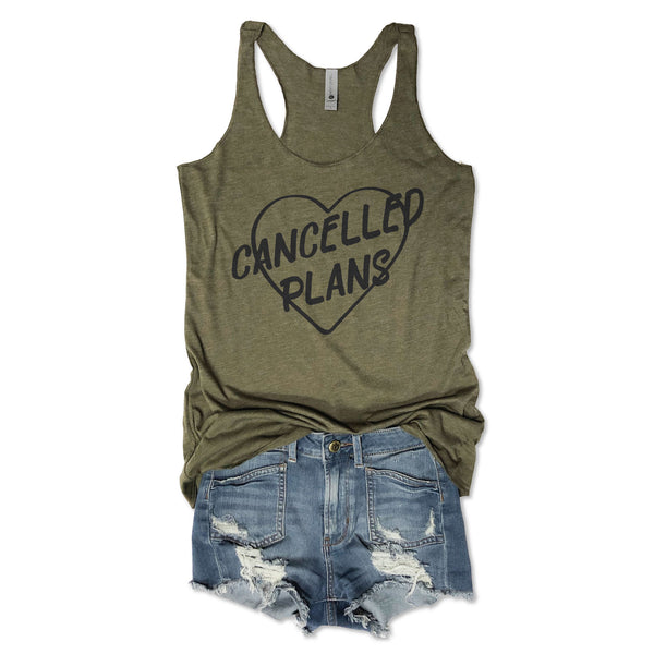 Cancelled Plans ... Army Triblend Racerback Tank