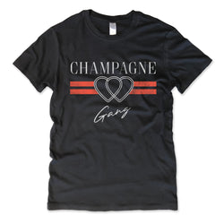 Champagne Gang ... Women's Cotton Distressed Edge Vintage Tee-Everfitte-[funny family shirt]-[drinking shirts]-[bachelor shirt]-[bachelorette party tees]-[bridal party shirt]-[bridal party tee]-[group drinking tees]-[funny vodka shirt]-[funny tequila tee]-[funny tequila tshirt]-[funny whiskey tshirt]-[funny drinking shirt]-[tequila t-shirt]-[vodka t-shirt]-[whiskey t-shirt]-Everfitte