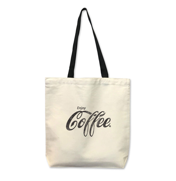 Enjoy Coffee...Reusable Canvas Tote Bag-Everfitte-ONE SIZE-Everfitte