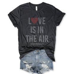 Sale!! Love is in the Air Try Not To Breathe...Unisex Charcoal Triblend Tee