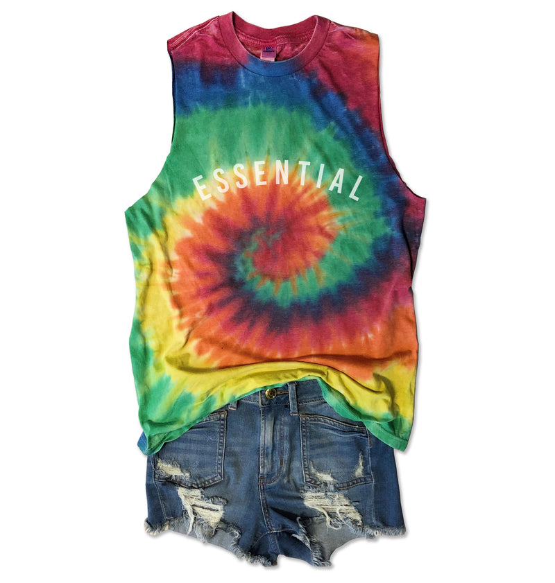 LIMITED! ESSENTIAL ... Funny Super Soft Cotton Subtle Burnout Tie Dye Muscle-Everfitte-[lululemon]-[chaser]-[athleta]-[spirtual gangster]-[champion]-[graphic tee]-[gym shirt]-[workout tee]-[funny shirt]-[funny tee]-[muscle tee]-Everfitte