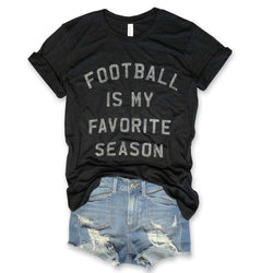 Football Is My Favorite Season... Unisex Black Triblend Tee