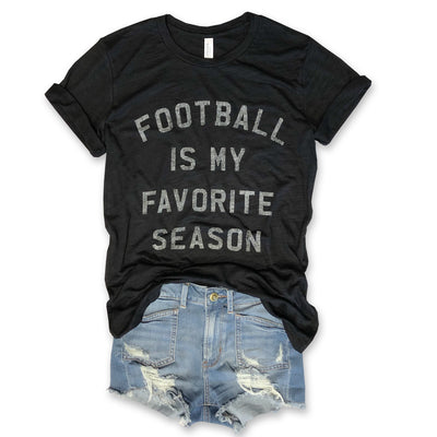 Football Is My Favorite Season... Unisex Slub Tee