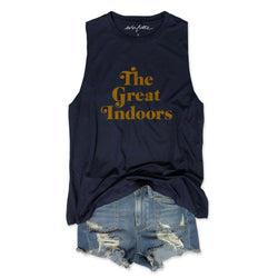 Sale The Great Indoors ... Navy Women's Relaxed Slouchy Muscle Tee