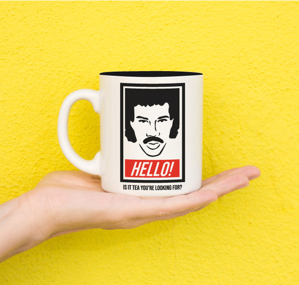 Hello Is It Tea You're Looking For?  ... Everfitte Funny Ceramic Two Tone Mug