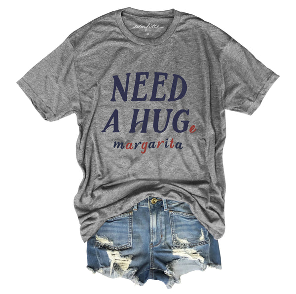 Need A Huge Margarita ... Heather Grey Unisex Triblend Tee-Everfitte-[funny family shirt]-[drinking shirts]-[bachelor shirt]-[bachelorette party tees]-[bridal party shirt]-[bridal party tee]-[group drinking tees]-[funny vodka shirt]-[funny tequila tee]-[funny tequila tshirt]-[funny whiskey tshirt]-[funny drinking shirt]-[tequila t-shirt]-[vodka t-shirt]-[whiskey t-shirt]-Everfitte