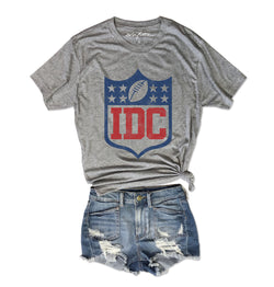 IDC (I Don't Care).....Heather Grey Unisex Triblend Tee