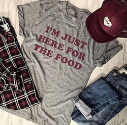 LIMITED... I'm Just Here For The Food...Funny Holiday Grey Unisex Triblend Tee