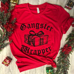 Limited Gangster Wrapper...Funny Holiday Red Triblend Unisex Tee