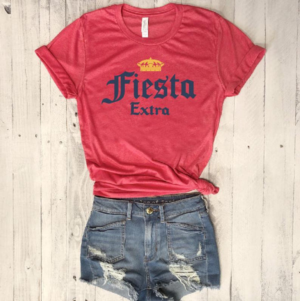 Fiesta Extra... Funny Unisex Red Triblend Tee