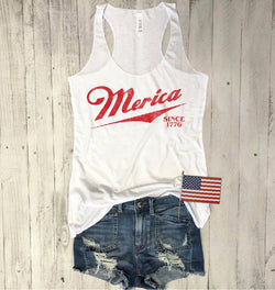 fourth of july tank, cute 4th of july tank, merica tank top, retro merica tank top, vintage merica tank top, usa tank top, everfitte, vintage tank top, maga tank top, racerback, American Tank top, America tank top, Cute 4th of july tank,