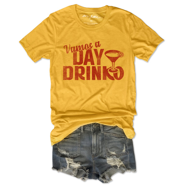 Vamos a Day Drinko ... Cinco de Mayo Funny Unisex Super Soft White Solid Triblend Tee