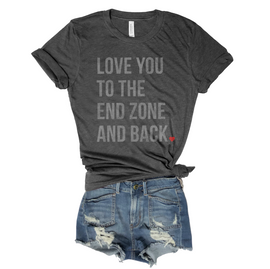 Love You To The End Zone and Back... Unisex Triblend Tee