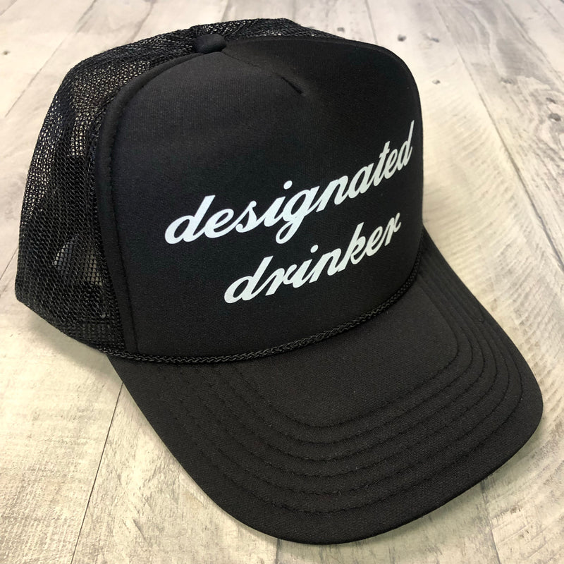 Designated Drinker... SnapBack Mesh Trucker Hat-Everfitte-[funny family shirt]-[drinking shirts]-[bachelor shirt]-[bachelorette party tees]-[bridal party shirt]-[bridal party tee]-[group drinking tees]-[funny vodka shirt]-[funny tequila tee]-[funny tequila tshirt]-[funny whiskey tshirt]-[funny drinking shirt]-[tequila t-shirt]-[vodka t-shirt]-[whiskey t-shirt]-Everfitte