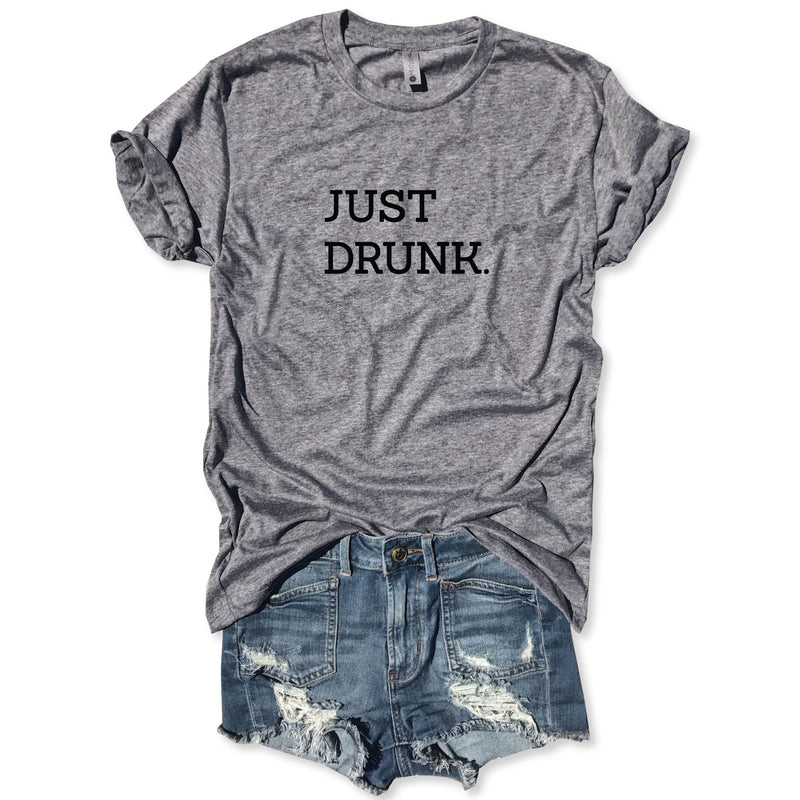 Just Drunk ... Funny Holiday Heather Grey Unisex Tee