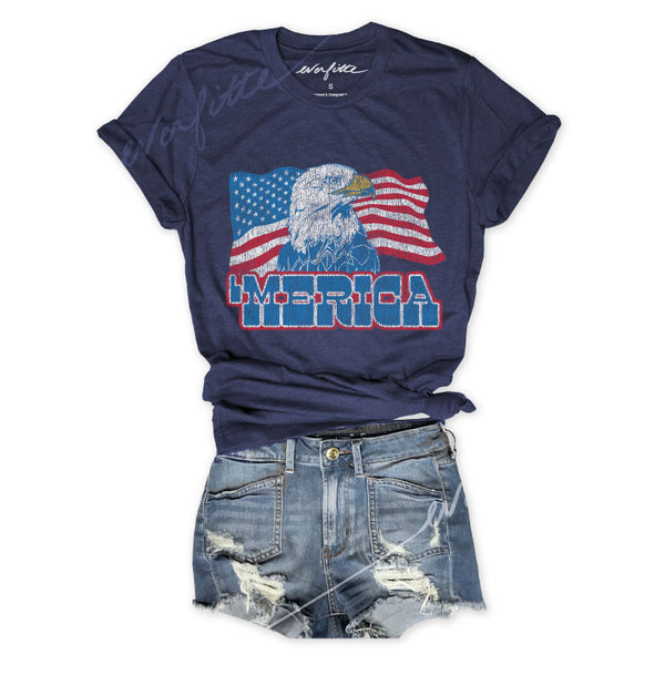 91e168698 Unisex Navy Triblend Tee usa flag shirt, american, july 4th, 4th of july, graphic  tee,