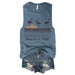 Born to be Mild ... Denim Blue Muscle Tee