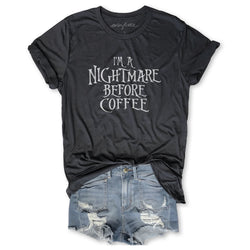 I'm A Nightmare Before Coffee ...Unisex Dark Grey Triblend Tee-Everfitte-[funny family shirt]-[drinking shirts]-[bachelor shirt]-[bachelorette party tees]-[bridal party shirt]-[bridal party tee]-[group drinking tees]-[funny vodka shirt]-[funny tequila tee]-[funny tequila tshirt]-[funny whiskey tshirt]-[funny drinking shirt]-[tequila t-shirt]-[vodka t-shirt]-[whiskey t-shirt]-Everfitte
