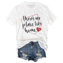 There's No Place Like Home ... Funny Unisex White Triblend Tee