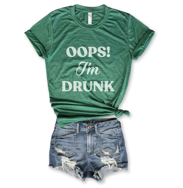 Oops! I'm Drunk... Funny St. Paddy's Day Kelly Green Triblend Unisex Tee