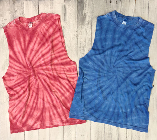 Limited!! Super Soft, Subtle Burnout, Tie Dye, Raw Edge Muscle-Everfitte-[lululemon]-[chaser]-[athleta]-[spirtual gangster]-[champion]-[graphic tee]-[gym shirt]-[workout tee]-[funny shirt]-[funny tee]-[muscle tee]-Everfitte