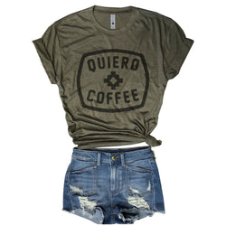 Quiero Coffee....Army Triblend Unisex Tee-Everfitte-[funny family shirt]-[drinking shirts]-[bachelor shirt]-[bachelorette party tees]-[bridal party shirt]-[bridal party tee]-[group drinking tees]-[funny vodka shirt]-[funny tequila tee]-[funny tequila tshirt]-[funny whiskey tshirt]-[funny drinking shirt]-[tequila t-shirt]-[vodka t-shirt]-[whiskey t-shirt]-Everfitte