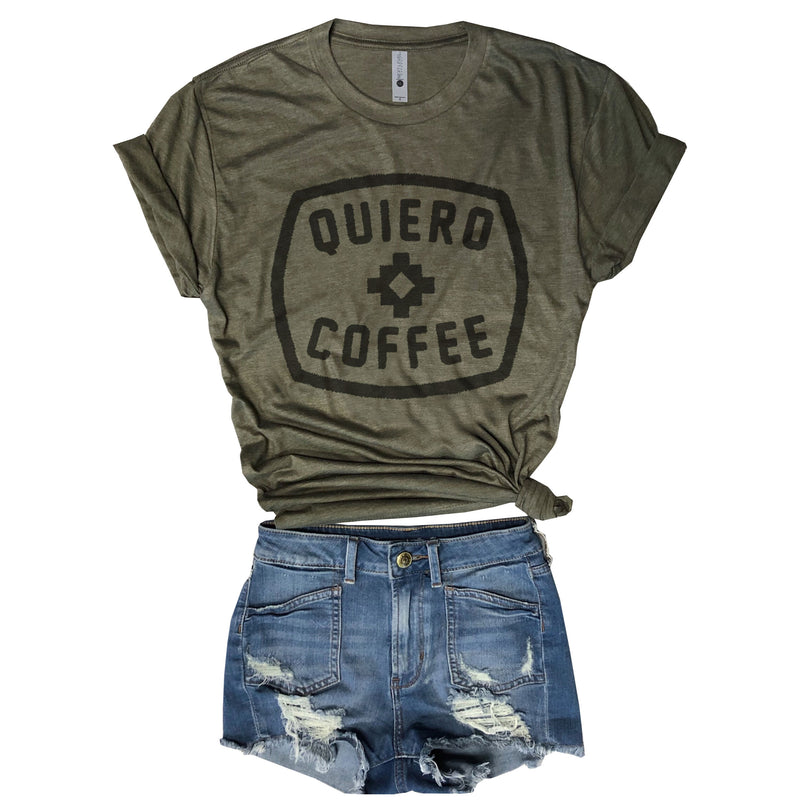 Quiero Coffee....Army Triblend Unisex Tee-Everfitte-Everfitte