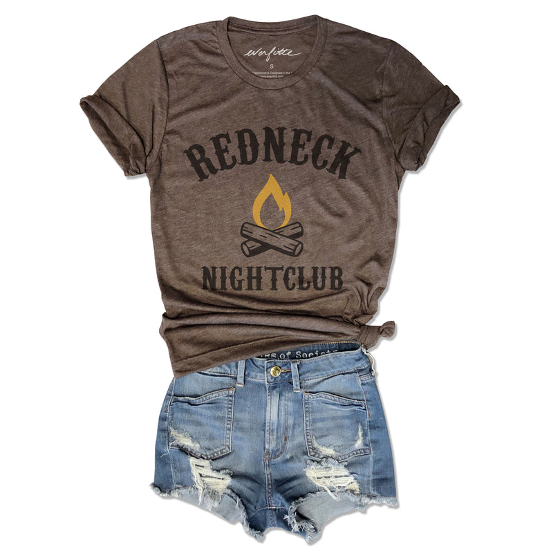 Redneck Nightclub ... Funny Unisex Super Soft Brown Triblend Tee