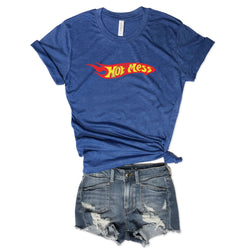 Sale... Hot Mess... Royal Unisex Triblend Tee
