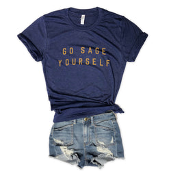 Go Sage Yourself... Unisex Navy Triblend Tee