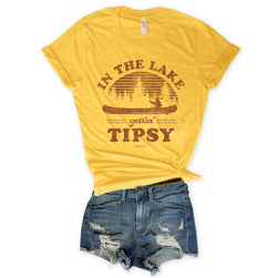 SALE!  In The Lake Gettin' Tipsy...Unisex Triblend Yellow Tee